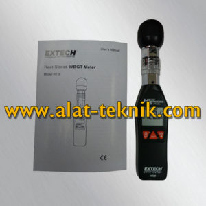 Extech HT30 Heat Stress WBGT Meter SPECIFICATIONS: * Wet Bulb Globe Temperature ( WBGT) : 0 to 50˚C ( 32 to 122˚F) ; Basic accuracy: ± 4˚F/ 2˚C * Black Globe Temperature ( TG) : 0 to 80˚C ( 32 to 176˚ F) ; Basic accuracy: ± 4˚ F/ 2˚ C * Air Temperature ( TA) : 0 to 50˚ C ( 32 to 122˚F) ; Basic accuracy: ± 1.8˚ F/ 1.0˚ C * Humidity: 0 to 100% RH ; Basic accuracy: ± 3% RH * Weight: 136g * Dimensions: 254 x 48.7 x 29.4mm Untuk Informasi Lebih Jelas Hubungi: Christian Hp : 081212243600 e-mail : bgt222444888@yahoo.com
